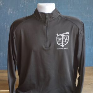 Mother Trucker Yoga men's black 1/4 zip pullover