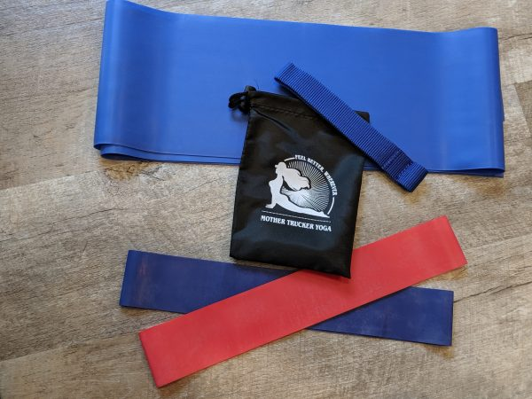Mother Trucker Yoga Resistance Band Travel Set - Medium