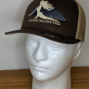Mother Trucker Yoga Tan Fitted Trucker Hat