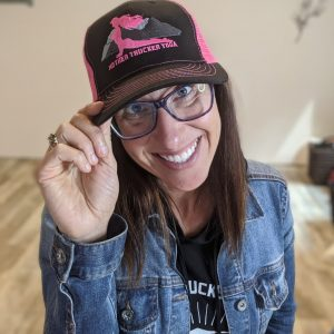 Mother Trucker Yoga Hot Pink Trucker hat Hope Image for Store