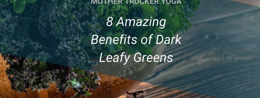 8 Amazing Benefits of dark leafy greens mother trucker yoga blog