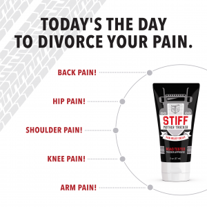 Divorce your pain with stiff mother trucker
